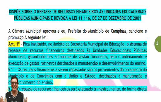 CAMPINAS - Lei nº 11.689 de 06-03-03 - Dispõe sobre o repasse de recursos financeiros