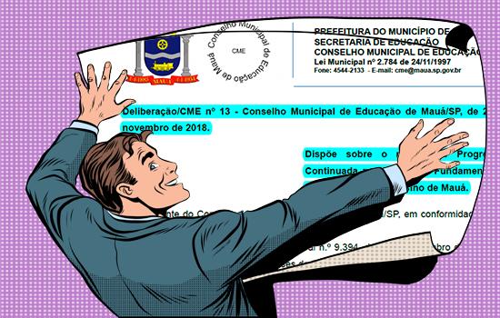 MAUÁ - Deliberação nº 13 de 2018 – Dispõe sobre o regime de progressão continuada para o ensino