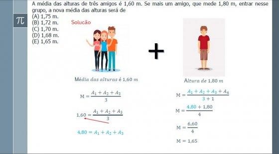 Matemática - Média aritmética simples e ponderada