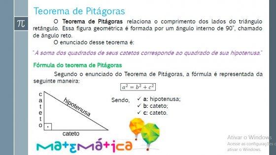 Matemática - Teorema de Pitágoras