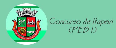 Concurso de Itapevi (PEB I) - VUNESP