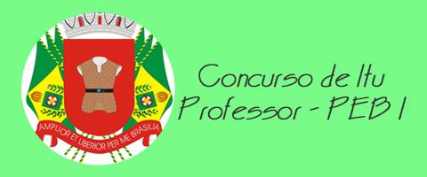 Concurso de Itu - Professor (PEB I)