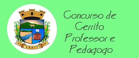 Concurso de Cerrito - Professor e Pedagogo