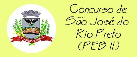 Concurso de São José do Rio Preto (PEB II)