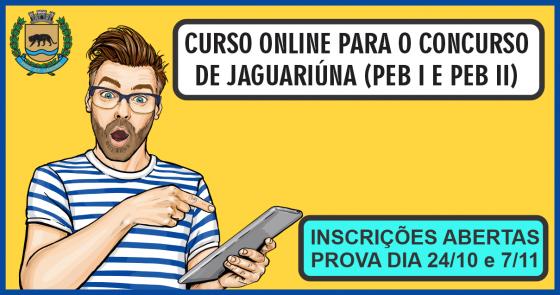 CURSO ONLINE PARA O CONCURSO DE JAGUARIUNA (PEB I e PEB II)
