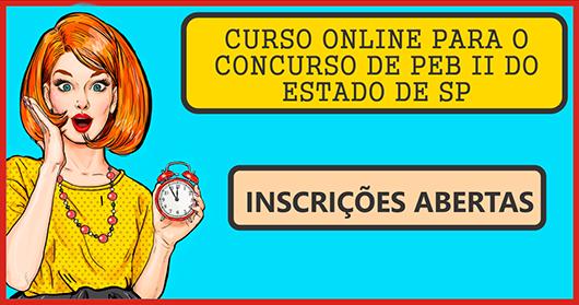 CURSO ONLINE PARA O CONCURSO PEB II DO ESTADO DE SP (PARTE PEDAGÓGICA) - 2019