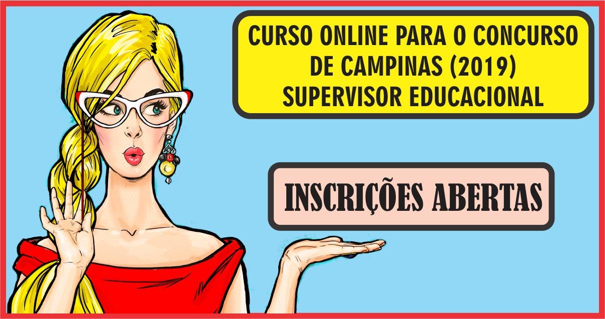 CURSO ONLINE PARA O CONCURSO DE CAMPINAS (SUPERVISOR EDUCACIONAL)