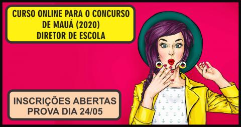 CURSO ONLINE PARA O CONCURSO DE MAUÁ (DIRETOR DE ESCOLA)