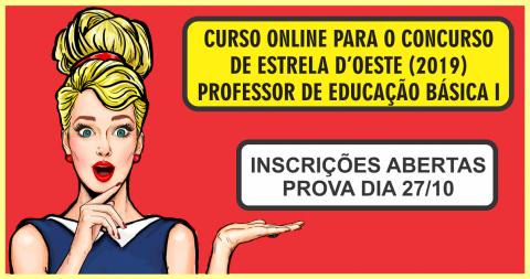 CURSO ONLINE PARA O CONCURSO DE ESTRELA D'OESTE (PEB I)