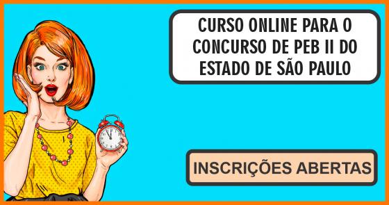CURSO ONLINE PARA O CONCURSO PEB II DO ESTADO DE SP (PARTE PEDAGÓGICA)